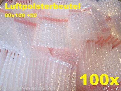 100 Lftpolsterbeutel Luftpolster Beutel Flachbeutel 80x100 +50 selbstkleb  (204)