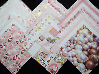 12X12 Scrapbook Paper Cardstock Sugar Plums Pink Christmas Holiday Sweet Girl 24 Cardstock 12x12 Scrapbook Paper