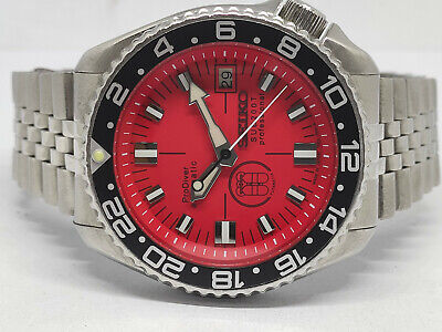 SEIKO DIVER 7002-700A PRODIVER RED SUB200T DIAL MOD AUTOMATIC MENS WATCH 561912