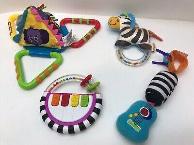 Baby Infant Sassy, Infantino, Lamaze, Rattles,Teething, Pull Toys - Mixed LOT