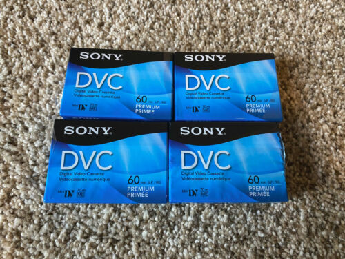 Lot of 4 BRAND NEW Sony DVC 60 min Digital Video Cassette Mini DV Premium tapes