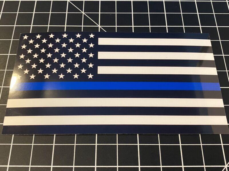 Thin Blue Line American flag Vinyl Decal Sticker USA Law Enforcement