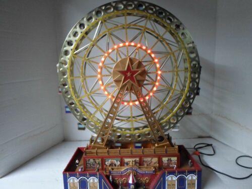 """MR CHRISTMAS Worlds Fair Grand Ferris Wheel 2014 """"See Video"""" 15"""" TALL"""