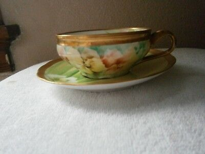 Vintage Ginori Cup and Saucer Hand Painted/ Signed