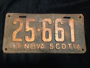 Early NS License Plates (Antique/Vintage)