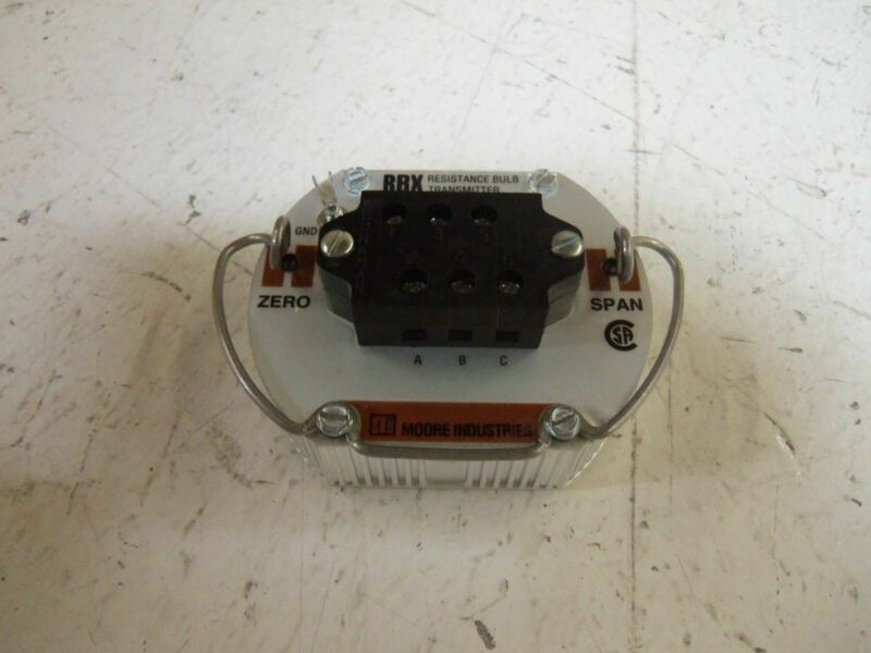 MOORE RBX/3W40-80/4-20MA/12-42DC-EZ100 TRANSMITTER *USED*