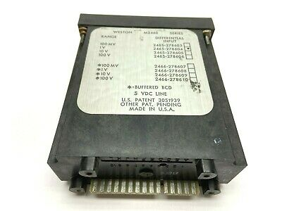 Weston 2465-278604 M2460 Digital Panel Meter 1v Range