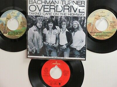 LOT OF 4  ' BACHMAN-TURNER OVERDRIVE ' HIT 45's+1P(Copy)[Hey You] THE - Bachman Turner Overdrive Hey You