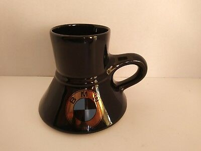 VTG Feltman Langer BMW Coffee Mug Black Blue Gold Logo Small Mouth Wide Base