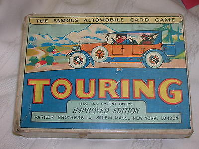 Vintage 1926 Parker Brothers Touring Automobile Card Game Improved Edition
