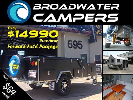 New! Forward Folding Off road Camper Trailer Hard Floor Parramatta Park Cairns City Preview
