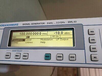 Rohde Schwarz Sml 03 1090.3000.13 Signal Generator W 3 Options