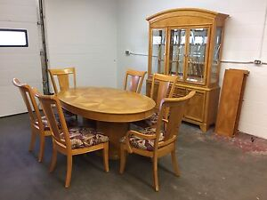 Dining Table, 6 chairs & China cabinet