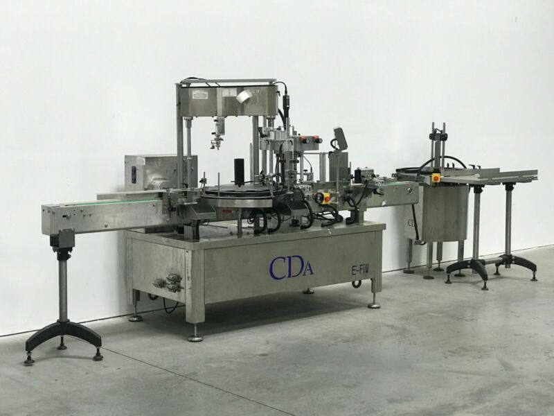 CDA E-Fill - Automatic Filling, Capping, Labeling Machine - New from Sept 2019