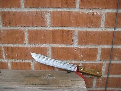 """Vintage 9"""" Blade *** SHAPLEIGH *** Large Carbon Butcher Knife USA"""