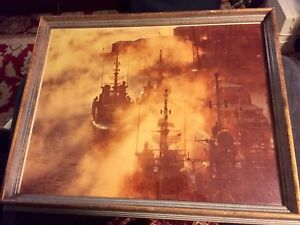 RARE VINTAGE FRAMED IROQUOIS CLASS DESTROYERS IN HALIFAX