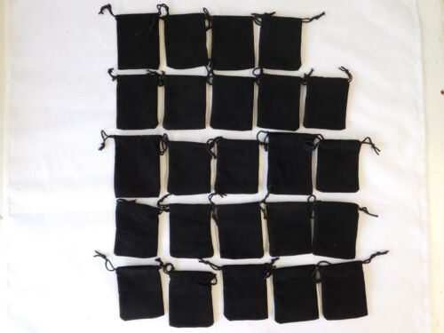 Black Felt Jewelry Gift Bags Pouches 2