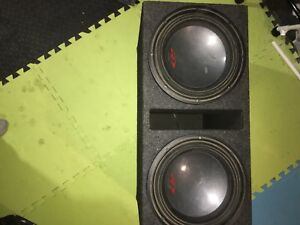 "Two 12"" alpine subs"