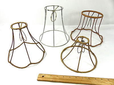 Lamp Shade Frames Custom Handmade Set of 4 with Bulb Clips Made In NYC
