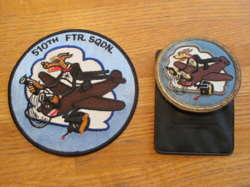 510th Fighter Squadron Patch PLUS Embroidered Blazer Crest Patch Magnetic Clasp