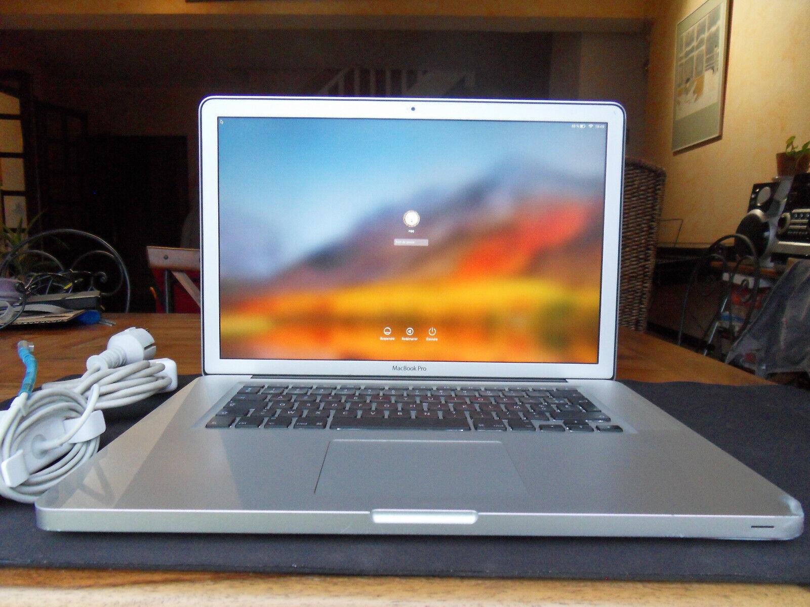 Macbook 15 mi 2010 azerty   i7, 250 go ssd, 8 go ram   lcd mat   défauts mineurs