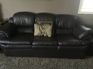 Leather like couch loveseat and chairs