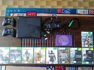 XBOX 360 Slim + Games and accessories Rostrevor Campbelltown Area Preview
