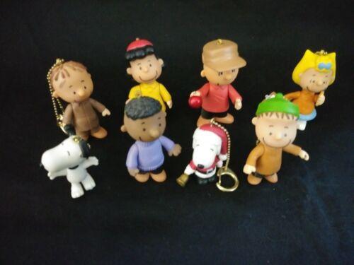 Peanuts Gang Clip-On Christmas Ornaments - Set of 8