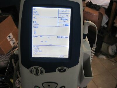 Welch Allyn Spot Vital Signs Monitor Lxi 45mt0 With Cart  Lot Aa254