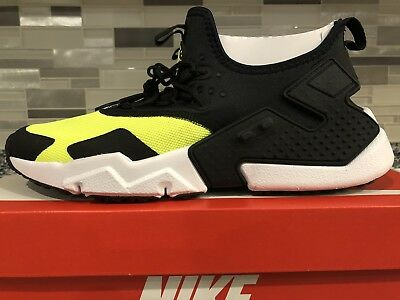 online store ce480 202ec Nike Air Huarache Drift Size 10 Volt Black White AH7334-700 run  91 qs