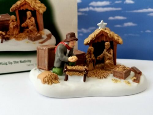 DEPT 56 New England Village SETTING UP THE NATIVITY!  Holy, New