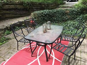 5 Piece outdoor patio dining set