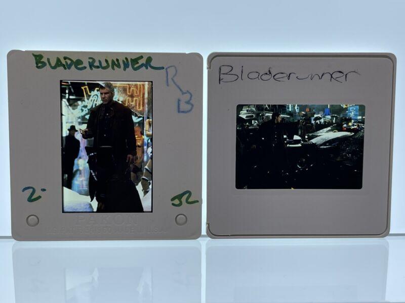 2 Blade Runner Movie 35mm Slides Harrison Ford Vintage #1