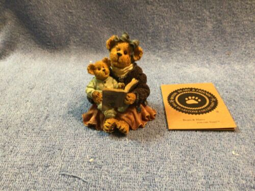 Boyds #228379 Momma McBearsley With Jordan... Storytime (Bearstone Collection)