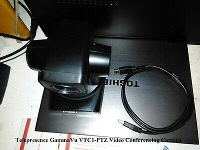 Telepresence Gammavu Vtc1-ptz Video Conferencing Camera W Cable Used