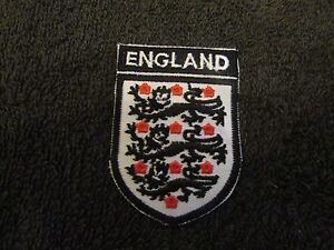 England Badge Embroided Iron On Sew On Patch Applique 2 Pcs 6.2cm x 4.5cm