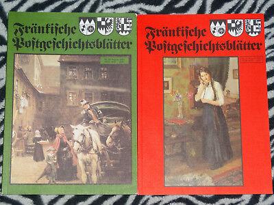 2x Fränkische Postgeschichtsblätter Franken Post Geschichte 37 35 1984 1985
