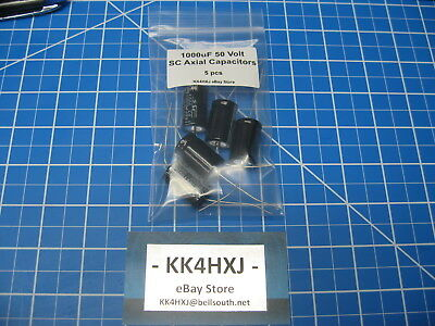 1000uf 50v Axial - Sc Brand - Gha Series - Electrolytic Capacitors - Lot Of 5