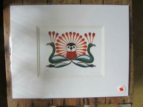 """SUNBURST OWL 11"""" x 14"""" - art print by Inuit artist Kenojuak Ashevak"""