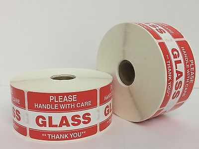 300 Labels 2x3 Please Glass Warning Handle With Care Shipping Mailing Stickers