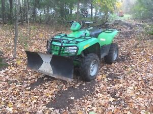 2008 arctic cat 400 4x4 2800kms with plow