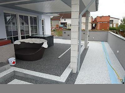Balkonabdichtung Würzburg für 4 m² Steinteppich in der Farbe grau (Teppich Abdichtung)