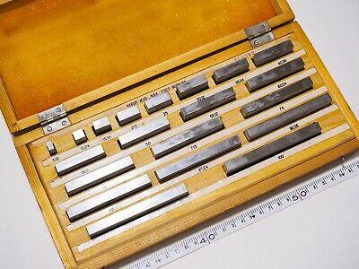 Fromeu Precision Metric Slip Gauge Block Set 512-100mm 20 Pcs Grade 1 Ussr