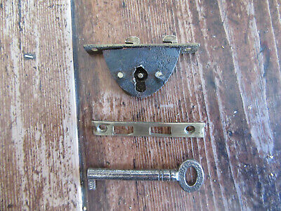 VICTORIAN WRITING SLOPE LOCK FULLY WORKING WITH KEY