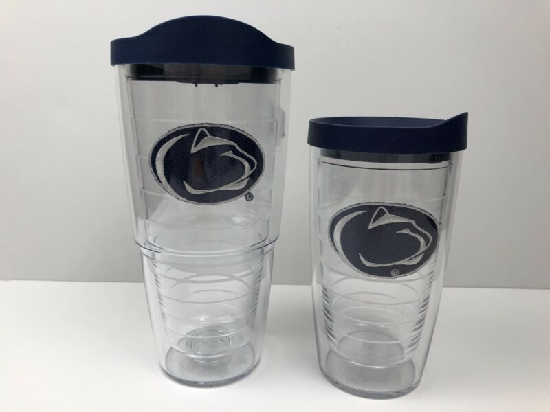 Pair Of Penn State Nittany Lions TERVIS Tumblers 16 And 24 Oz