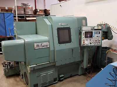 Mori Seiki Sl-3a Cnc Lathe Yasnac Lx2 Chip Conveyor Tailstock