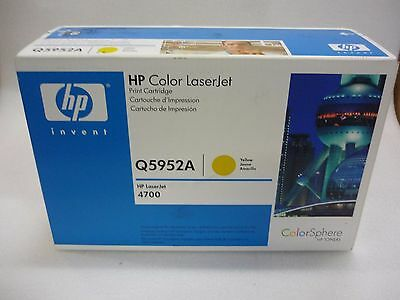 GENUINE HP Q5952A (52A) YELLOW TONER LASER JET 4700 FACTORY SEALED BRAND NEW