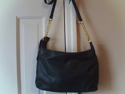 LADIES  SHOULDER BAG ADJUSTABLE STRAP DARK GREEN GOLD CHAIN ZIPPER TASSEL for sale  Shipping to India