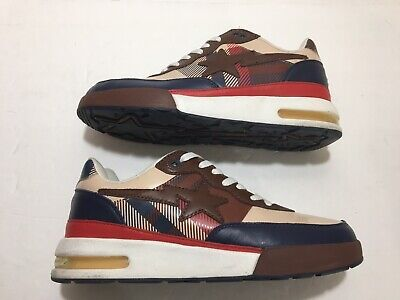 "A Bathing Ape Bape Bapesta Roadsta Foot Soldier 0607FS-034 US 9 ""Burberry"" 2006"
