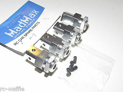 Yy Adapter Conversion Kit From 1 5 Hpi Baja Wheels To Fg Rc Cars 24Mm Silver